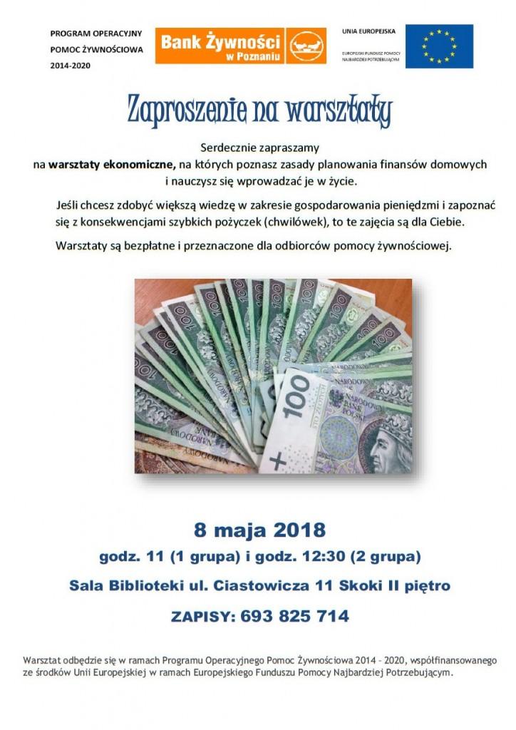 Plakat_Ekonomiczne warsztaty